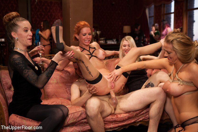 Mature anal party