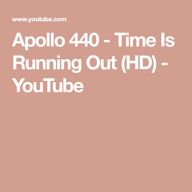 Apollo 440 time is running out