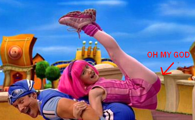 Stephanie from lazy town panties