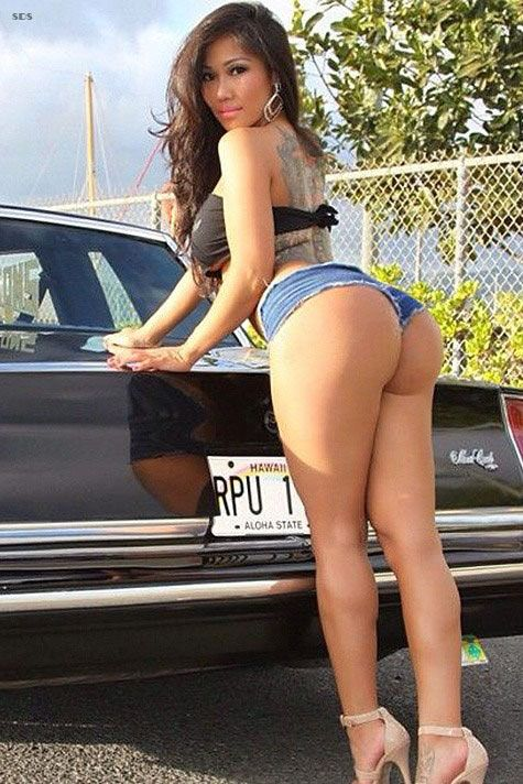 naked butts in short skirts