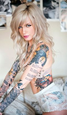 Hot tattoo on naked woman